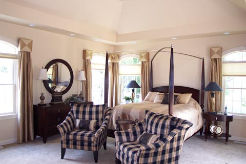 Picture of professionally decorated master bedroom